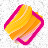Logo brush painted Orange abstract background for banner Royalty Free Stock Photography