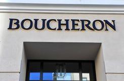 Logo Bucheron statku flagowego sklep Fotografia Stock