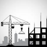 Logo budowy żuraw Obrazy Stock
