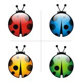 Logo bugs  icon animal pets insect Stock Photo