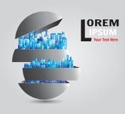 Logo Building 4 Lizenzfreie Stockbilder