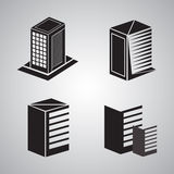 Logo Building Set. A city building hi rise logo icon Stock Photo