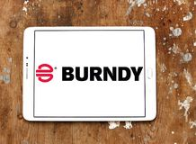 Burndy electronics company logo. Logo of Burndy electronics company on samsung tablet. Burndy LLC is a manufacturer of connectors, fittings and tools for stock photography