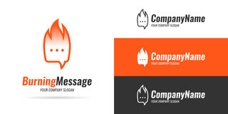 Logo Burning-Mitteilung Stockbilder