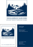 Logo with Business Card Template. Vector illustration logo with typography for possibly an insurance, financial, or environmental company Stock Image