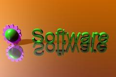 Logo Business, Software. 3d Presentation Business, Logo and Symbol Royalty Free Stock Photos
