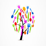 Logo business tree Kitchen Set icon  Royalty Free Stock Photography