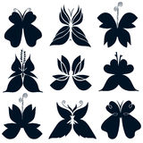 Logo Butterfly Black Fotografia Stock Libera da Diritti