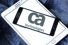 CA Technologies logo. Logo of CA Technologies on samsung mobile. CA Technologies is an American multinational publicly held corporation headquartered in New York Stock Image