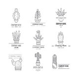 Logo with cactuses Royalty Free Stock Images
