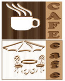 Logo cafe. Vector illustration, coffee Royalty Free Stock Images