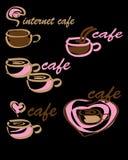 Logo cafe. Vector illustration, coffee Stock Photos