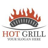 Logo caldo della griglia Fotografia Stock Libera da Diritti