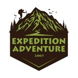 Logo for Camping Mountain Adventure, Emblems, and Badges. Camp in Forest Vector Illustration Design Elements Template. Icon vector illustration