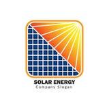 Solar energy for green life royalty free illustration
