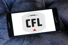 Canadian Football League, CFL logo. Logo of Canadian Football League, CFL on samsung mobile. CFL is a professional sports league in Canada. The CFL is the