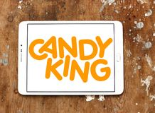 Candyking company logo. Logo of Candyking company on samsung tablet. Candyking is a Swedish company that markets pick and mix confectionery stock photo