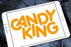 Candyking company logo. Logo of Candyking company on samsung tablet. Candyking is a Swedish company that markets pick and mix confectionery stock image