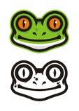 Logo capo della rana Fotografia Stock