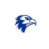 Logo capo di vettore del falco Fotografie Stock Libere da Diritti