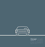 Logo of car, front side, in minimal flat composition in lines Royalty Free Stock Image