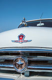 Logo car ''Volga'' GAZ-21 close-up. Royalty Free Stock Images