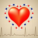 Logo for cardiologist Stock Photo