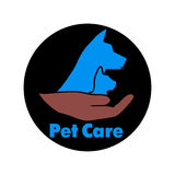 Logo care of animals, symbol of protection of vagrant animals. Stock Photography