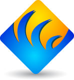 Logo carré Image stock