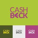 Logo Cash Back Fotografía de archivo libre de regalías