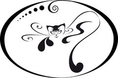 Logo cat Stock Image
