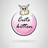 Logo cat Royalty Free Stock Photography