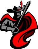 Logo cavalier de mascotte Photo libre de droits