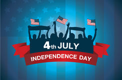 Logo celebrate 4 July independence day Stock Images