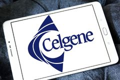 Celgene Biotechnology company. Logo of Celgene company on samsung tablet . Celgene Corporation is an American biotechnology company that discovers, develops and Stock Photography