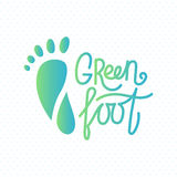 Logo of center of eco foot. Royalty Free Stock Photography