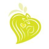 Logo - centrales en forme de coeur d'Eco Illustration de Vecteur