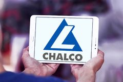 Aluminum Corporation of China Limited, Chalco logo. Logo of Chalco company on samsung tablet . Aluminum Corporation of China Limited, Chalco is chinese Stock Images