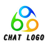 Logo for chat forum Stock Image