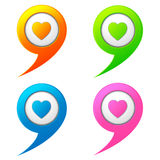 Logo chat and heart Stock Image