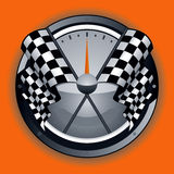 Logo Checkered d'indicateur Photo stock