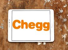 Chegg education technology company logo. Logo of Chegg company on samsung tablet. Chegg, Inc. is an American education technology company specialize in online royalty free stock image