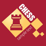 Logo chess club. Rook and cells. Royalty Free Stock Photos