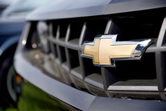The logo of Chevrolet close up. Stock Photography