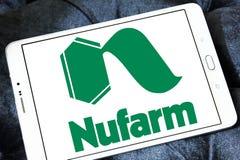 Logo chimico agricolo della società di Nufarm Fotografia Stock Libera da Diritti