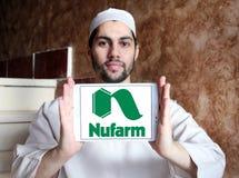 Logo chimico agricolo della società di Nufarm Fotografia Stock