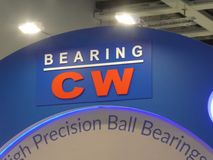 Logo of the Chinese company CW Bearing stock photo