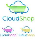 Logo chmury sklep ilustracji