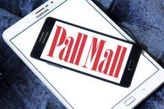 Pall mall cigarettes company logo. Logo of cigarettes company pall mall on samsung mobile on samsung tablet stock photos