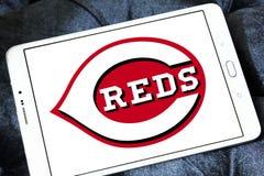 Cincinnati Reds baseball Club logo. Logo of Cincinnati Reds baseball Club on samsung tablet. The Cincinnati Reds are an American professional baseball team royalty free stock photos